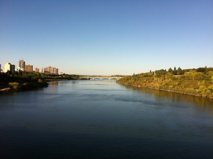 View from a boat cruise on the mighty Saskatchewan